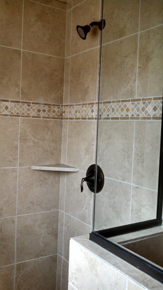 Kurk Homes for Traditional Bathroom with Master Shower