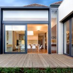 La Cantina Doors for Contemporary Deck with Transom Window