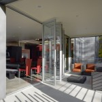 La Cantina Doors for Contemporary Patio with Metal Railing