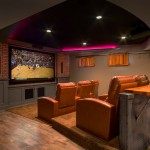 La Habra Theater for Traditional Home Theater with Counter Stools