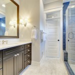 Lancasters for Contemporary Bathroom with Transom Window