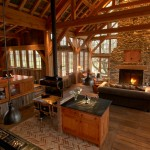 Lancasters for Rustic Kitchen with Large Frieplace