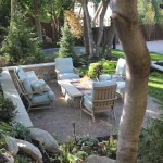 Landform for Traditional Patio with Patio Furniture