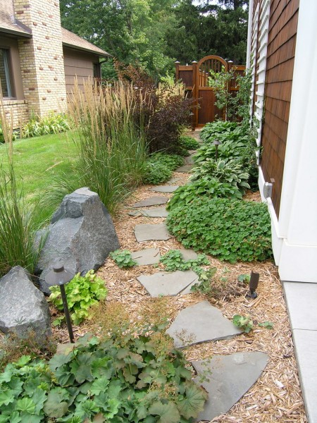 Landscaping Ideas for Small Yards for Traditional Landscape with Stone Pavers
