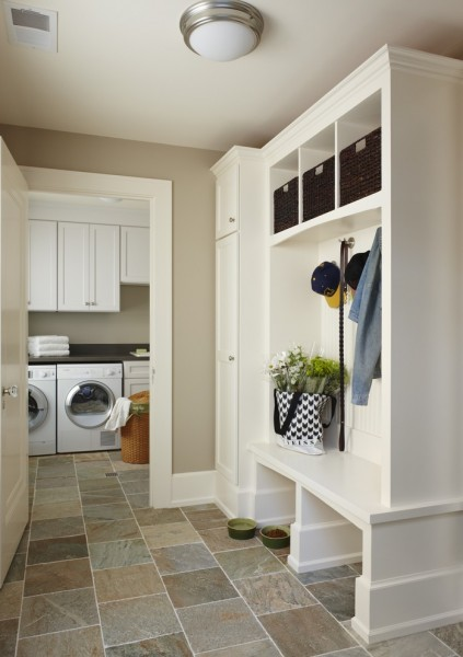 Lansing Building Products for Traditional Laundry Room with Beige Walls