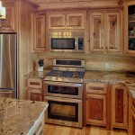 Lapidus Granite for Rustic Kitchen with Chandelier