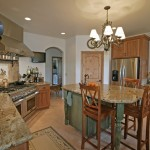 Lapidus Granite for Rustic Kitchen with Slab Countertops