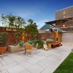 Laying Pavers for Contemporary Patio with Outdoor Furniture