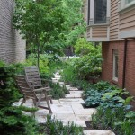Laying Pavers for Traditional Landscape with Lush