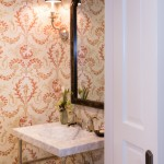 Lee Jofa for Traditional Powder Room with Floral Wallpaper