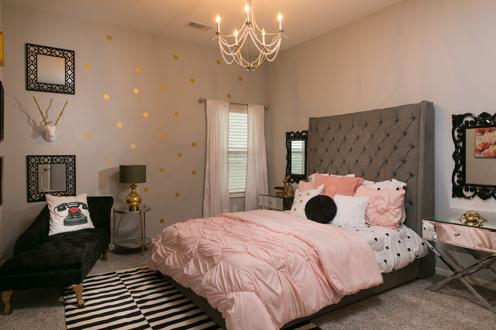 Lees Summit Honda for Transitional Bedroom with Chandelier