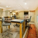 Legacy Homes Omaha for Contemporary Home Office with Polished Concrete Floor