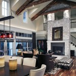 Legacy Homes Omaha for Farmhouse Living Room with Truss