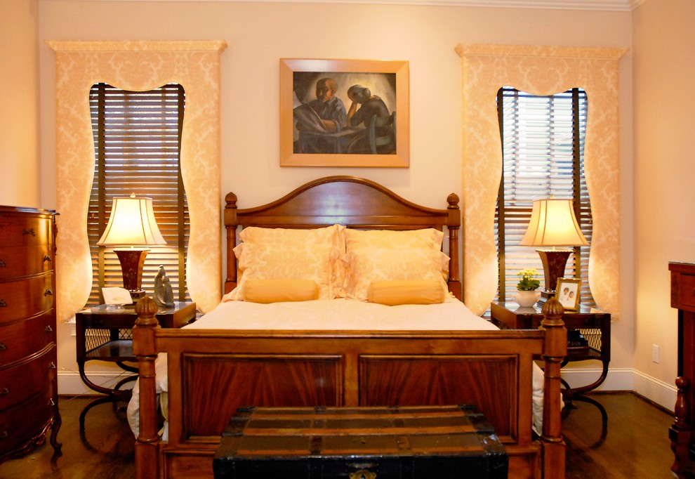Leland Furniture for Traditional Bedroom with Damask Pattern
