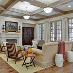 Leland Furniture for Traditional Family Room with Drapes