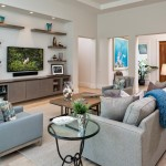 Lennar Homes Florida for Beach Style Living Room with Square Wood Table