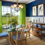 Lennar Homes Florida for Tropical Dining Room with Navy and Lime Dining Room
