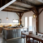 Light Bulb Depot for Rustic Kitchen with Exposed Beams
