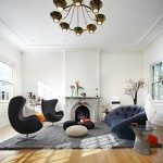 Ligne Roset Nyc for Contemporary Living Room with Egg Chair
