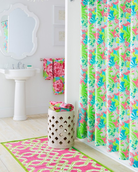 Lilly Pulitzer First Impression for Eclectic Bathroom with Lilly Pulitzer Towels