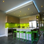Lime Green Stool for Contemporary Kitchen with Entry