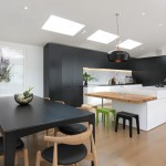 Lime Green Stool for Contemporary Kitchen with Island Lighting