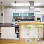 Lime Green Stool for Contemporary Kitchen with Kitchen Design