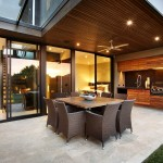 Limestone Grill for Contemporary Patio with Outdoor Entertaining