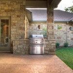 Limestone Grill for Mediterranean Patio with Stone Exterior