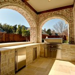 Limestone Grill for Traditional Patio with Kitchen and Bath Remodel