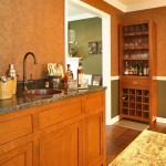 Linkasink for Traditional Home Bar with Wallpaper