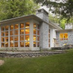 Loewen Windows for Contemporary Exterior with Roof Overhang