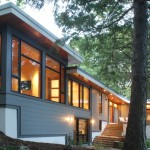 Loewen Windows for Contemporary Exterior with Wood Siding