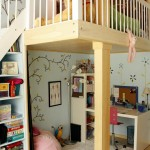 Lofting for Contemporary Kids with Girls Room