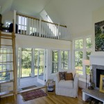 Lofting for Contemporary Living Room with Screened Porch