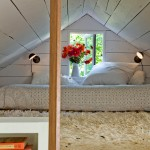 Lofting for Shabby Chic Style Bedroom with Planks