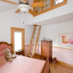 Lofting for Traditional Kids with Pink Bedding