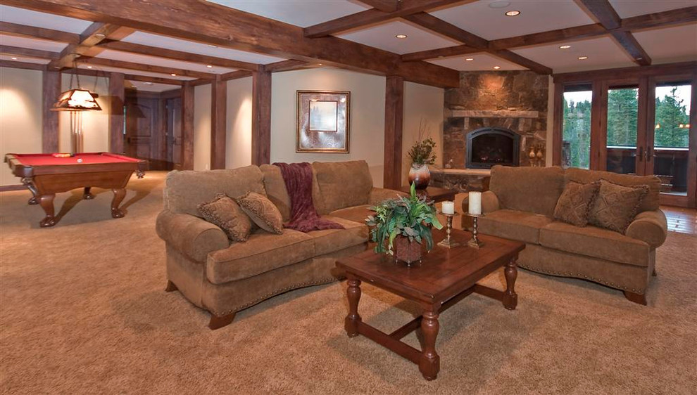 Lomax Carpet for Traditional Basement with Traditional