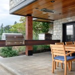 Lone Star Bbq for Contemporary Patio with Stone Exterior