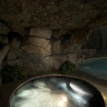 Lone Star Bbq for Rustic Pool with Rock Waterfall