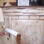 Lone Star Bbq for Shabby Chic Style Family Room with Rustic