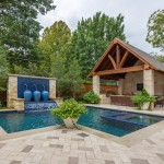 Lone Star Bbq for Traditional Pool with Stone