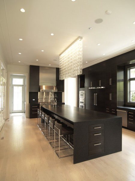 Long Island Paneling for Contemporary Kitchen with Viking