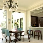 Lorts for Contemporary Kitchen with Backless Bar Stools