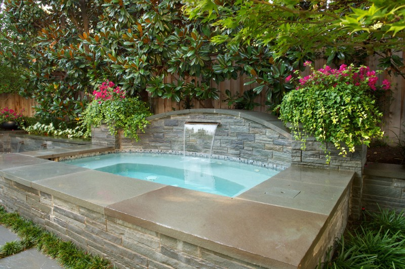Los Gatos Spa for Traditional Pool with Pennsylvania Bluestone