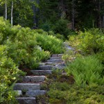 Lowes Bangor Maine for Rustic Landscape with Stone Staircase