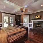 Lowes Charleston Wv for Traditional Bedroom with Coffered Ceiling