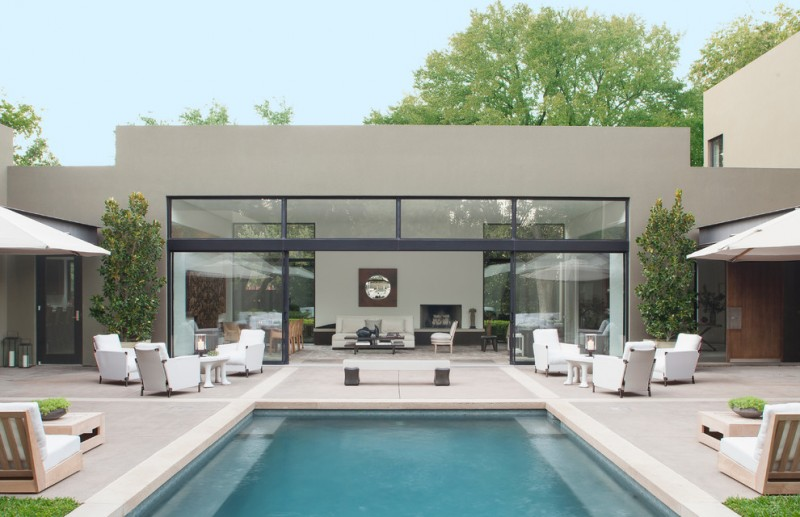 Lowes Deck Designer for Contemporary Pool with Outdoor Seating
