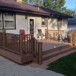 Lowes Grandville for Traditional Patio with Trex
