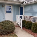 Lowes Grandville for Traditional Porch with Severe Weather Rail